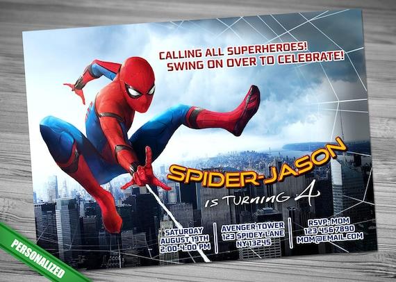 Spiderman homecoming invitation solutioingenieria Images