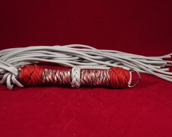 Red and Gray Paracord Flogger