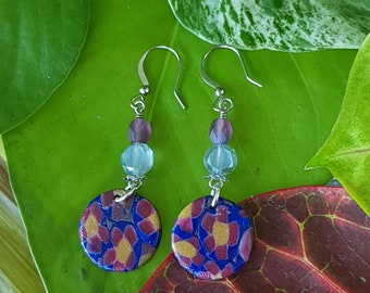 Khloris Mini Disc Dangle @BonnieAndBlu Handmade ~ Dangle Earrings ~