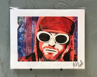 """Kurt Cobain Art Print 8""""x10"""". Ships extremely quickly priority mail in two layers of secure packaging."""