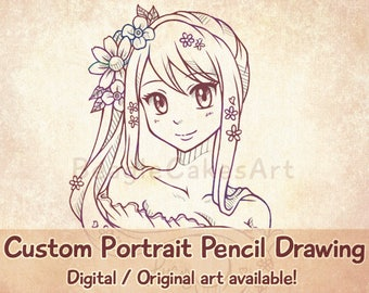 Custom Anime Portrait, Anime Style Art, Personalized Drawing, Custom Caricature, Anime Commission, Custom Portrait, Custom Illustration