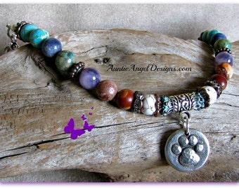 paw print bracelet, paw print jewelry, dog lover jewelry, cat lover bracelet, pet lover jewelry, cat lover, dog lover gift, paw print gift