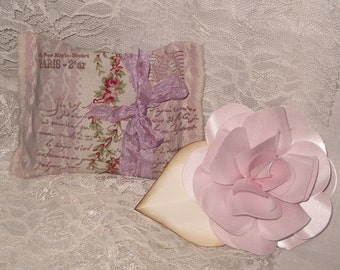 French Postcard Handmade Lavender Sachet Filled with French Lavender ECS