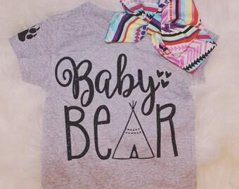 Baby Bear Glitter HTV TShirt
