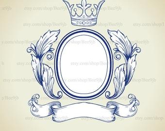 Wedding Logo | Frame Clipart | Wedding Frame Clip Art | Vector Graphics