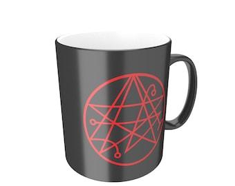 Sigil of the gateway cthulhu symbol- H P Lovecraft mythos inspired Mug DM1226
