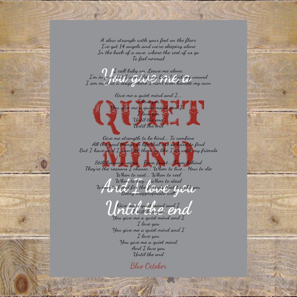 Blue october blue october lyrics quiet mind lyrics home zoom stopboris Images