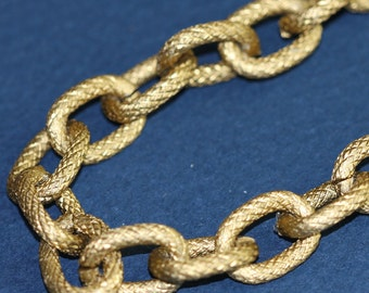 20 x 5 ft of Large Aluminum chain  texture cable chain open link chain  14X10mm -  Antique Gold color