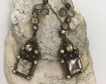Early Victorian Estate Drop Earrings