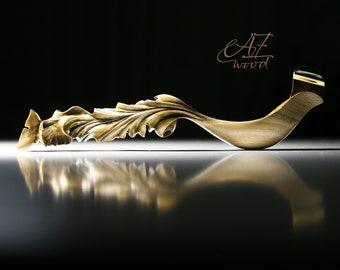 """Sculptural ergonomic Pen Holder  """"On the Wave of Spring""""- Oblique pen holder - Universal flange"""