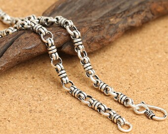 Sterling Silver Bow Knot Chain, Sterling Bow Knot Chain, 925 Silver Bow Knot Chain Necklace 4mm 18 20 22 24 - LA700