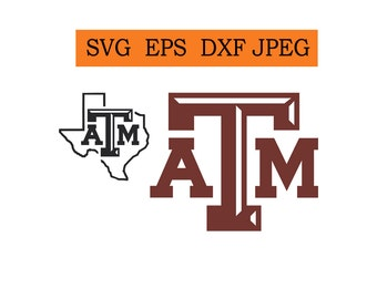 Texas A&M logo in SVG / Eps / Dxf / Jpg files Instant Download!