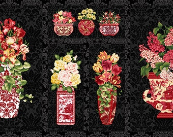 Botanica III Scarlet Panel  8412P-99 by the panel
