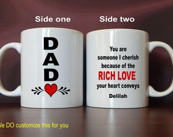 Dad Personalized Mugs - Dad Gifts - Gift for Dad - Father's Day - Fathers Day - Daddy Mug, MDA007