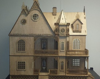 Scale One Inch, Grace Mansion, A Gorgeous Victorian Wooden Dollhouse Kit, 1:12 Scale, SHIPS WORLWIDE