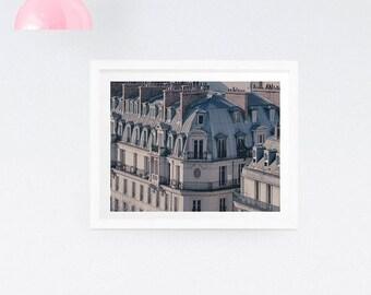 Paris Photography Print - Paris rooftops print