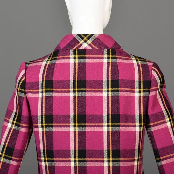 Large Separates Dress 1960s Shift Designer Pink Mann Plaid Set Dress Mod Hot 60s Christian Vintage Matching rwqrXvnR