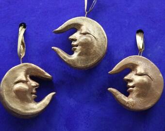 Luna pendant in terracotta, Christmas gift.