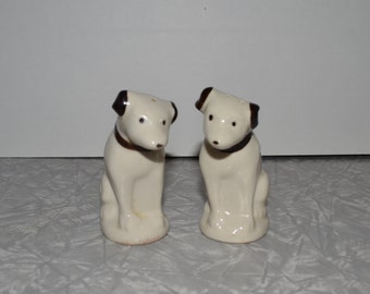 RCA Victor Nipper Dog Salt & Pepper Shakers ~ Advertising ~ Vintage Dogs ~ Epsteam
