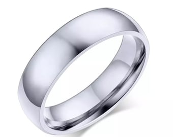 stainless steel silver rings