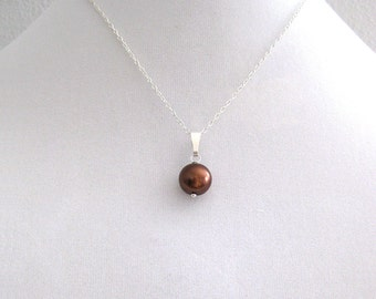 Chocolate Brown Pearl Necklace