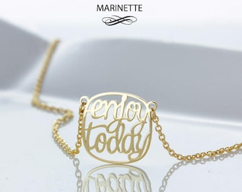 Personalized Quote necklace