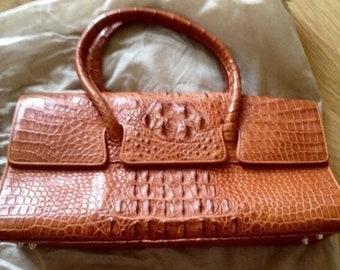 Bag, crocodile leather 20x38