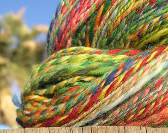 Hand Spun Yarn - Merino Wool - Crazy Colors
