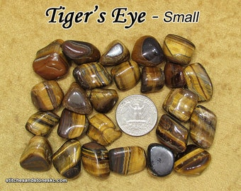 Tiger's Eye tumbled stone for crystal healing (Tiger Eye) — multiple sizes available