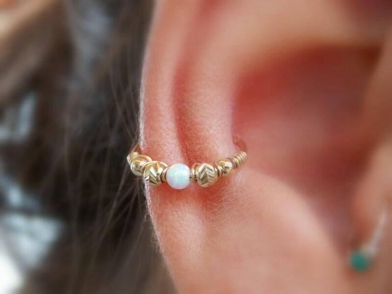 Conch Earring Helix Hoop Earring Conch Earring Opal