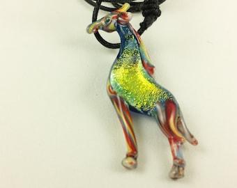 Giraffe - Glass Pendant Necklace