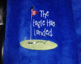 Eagle has landed towel