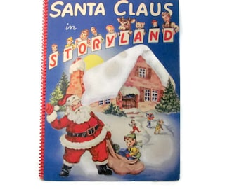 Vintage Christmas Book, 1950's Santa Claus In Storyland Pop-Up Book, Children's Christmas Pop Up Book,  Santa Pop Up, 1950's Christmas