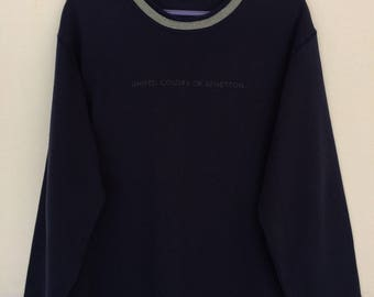 Rare!! United Colors Of Benetton Spellout Sweatshirt