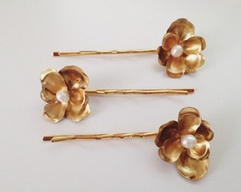 Orchid hairpin SET of 3, #1320
