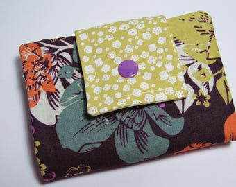 Fabric Billfold Wallet, Women's Fabric Billfold Wallet, Credit Card Holder, Bifold Wallet, Holiday Gift For Her Under 30
