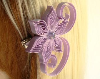 Radiant Orchid Wedding, Iris Wedding Hair Clip, Orchid Wedding Hair Accessory, Iris Wedding