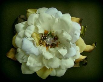 Handmade satin flower brooch flower clip & pin