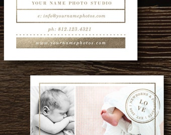 Business Card Template - Photographer Business Cards - Completely Customizable