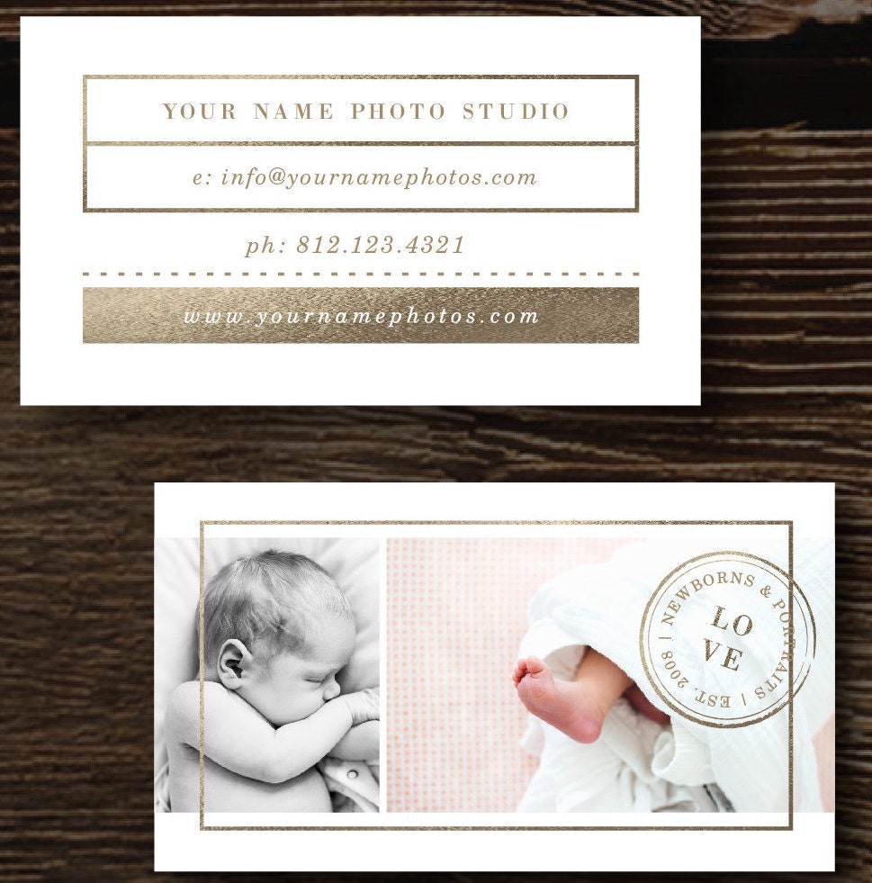 Business Card Template Photographer Business Cards