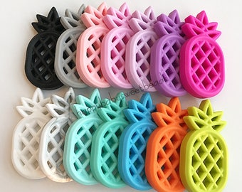 Silicone Teether pineapple 14 colors Baby Teething Toy Chewing Teether DIY Pendant Food Grade Silicone