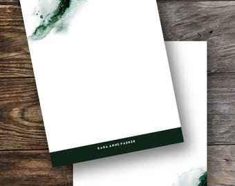 Personalized stationery set / flat notecards