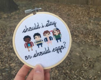 Should I Stay or Should Eggo? Stranger Things Minis Cross Stitch Pattern