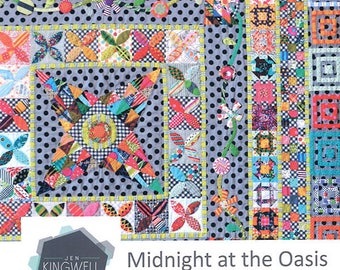 Midnight at the Oasis quilt pattern from Jen Kingwell,