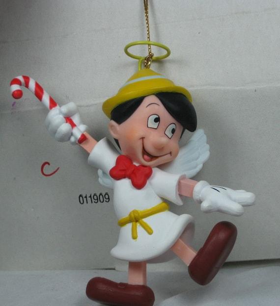 Used Disney Christmas Decorations: Disney Grolier Pinocchio Angel Ornament Christmas In Box DCA