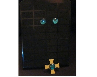 Sailor Neptune earrings and chocker ornement - OLD ANIME version