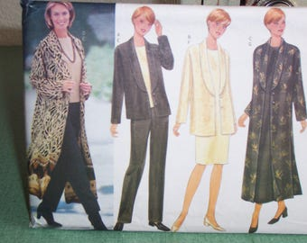 Butterick6208-Classics Misses' Jacket/Duster/Top/Dress/Pants/Business/Casual Attire-Sizes 8-10-12
