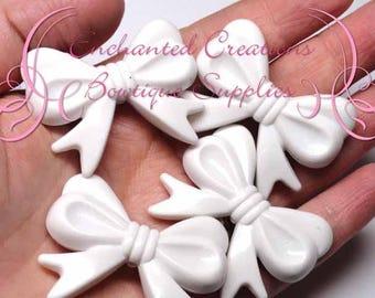 Perle acrylique arc 46mm blanc 4pcs