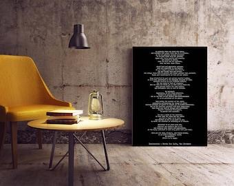 Desiderata Poster, Max Ehrmann Desiderata Art Print, literary quote print, motivational poster,
