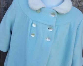 Powder Blue Three Piece Little Girls Snowsuit